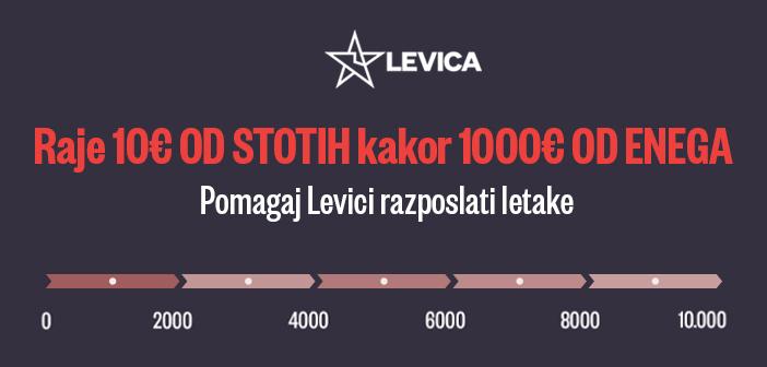 Raje 10€ od stotih kakor 1000€ od enega (donacijska kampanja Levice)