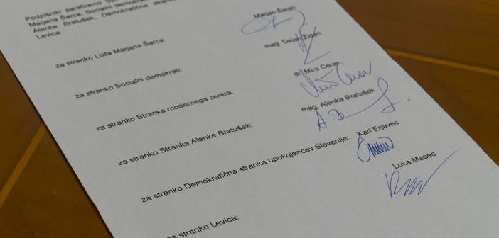 Podpisan sporazum o sodelovanju med Levico in koalicijo Marjana Šarca