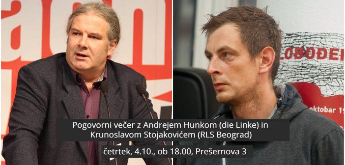 Pogovorni večer z Andrejem Hunkom & Krunoslavom Stojakovićem
