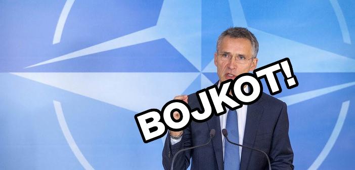 Levica bojkotira nagovor generalnega sekretarja Nata