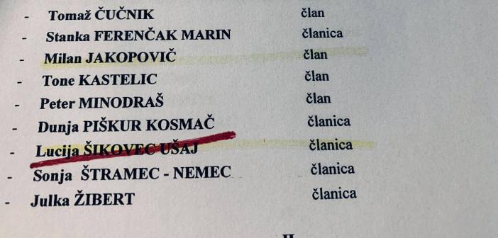 Levica Ljubljana: Lucija Ušaj ne bo članica odbora za zdravje in socialno varstvo