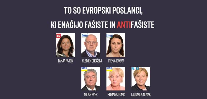 Slovenski evroposlanci izenačili fašiste in antifašiste