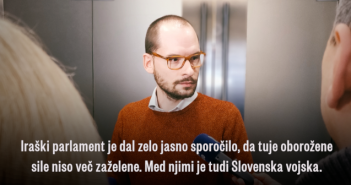 Slovenska vojska naj se nemudoma umakne iz Iraka
