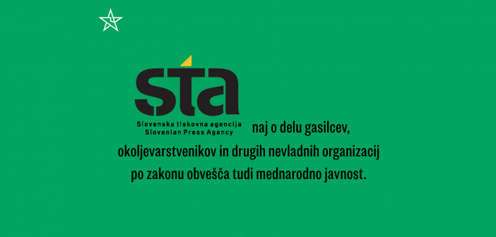 Slovenska tiskovna agencija naj o delu nevladnih orgnizacij obvešča tudi mednarodno javnost