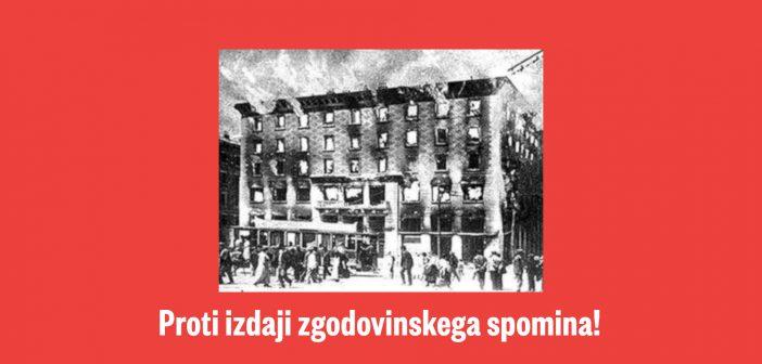 O Pahorjevem spravaštvu ob stoletnici požiga Narodnega doma v Trstu