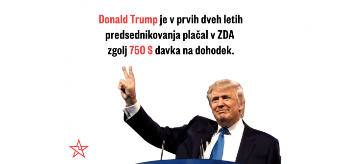 Donald Trump plačuje manj davkov od tebe