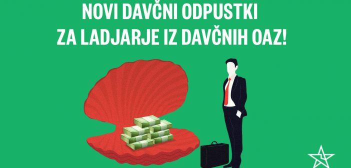 Novi davčni odpustki za tuje korporacije iz davčnih oaz