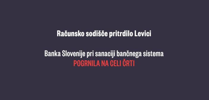 Banka Slovenije pri sanaciji bančnega sistema pogrnila na celi črti