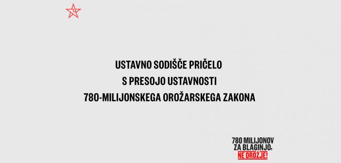 Ustavno sodišče začelo s presojo ustavnosti 780-milijonskega orožarskega zakona.