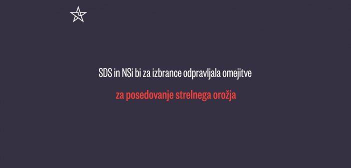 SDS in NSi bi sprostila dostop do orožja za izbrance!
