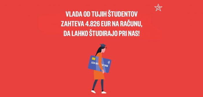 Levica za umik visokih finančnih ovir za tuje študente v Sloveniji