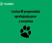 Pojasnilo: Levica NI prepovedala sprehajanja psov z ovratnicami