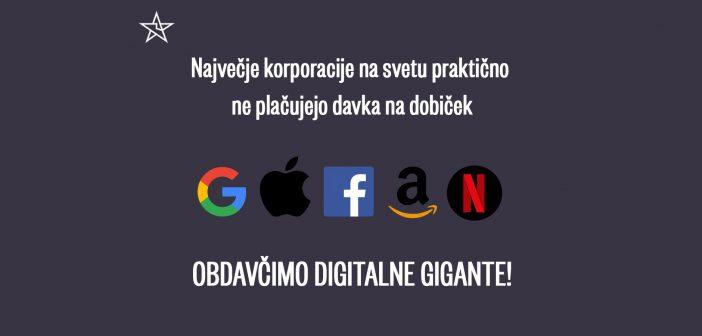 Čas je, da tudi Apple, Facebook, Amazon, Google začnejo plačevati davke v Sloveniji