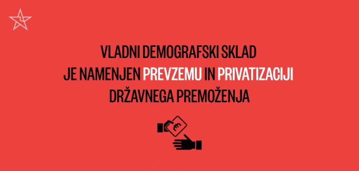Vladni demografski sklad je namenjen prevzemu in privatizaciji državnega premoženja